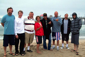 Director Bruce Gabrielson in Huntington Beach Instructor Certification Class with Bruce Gabrielson and students.